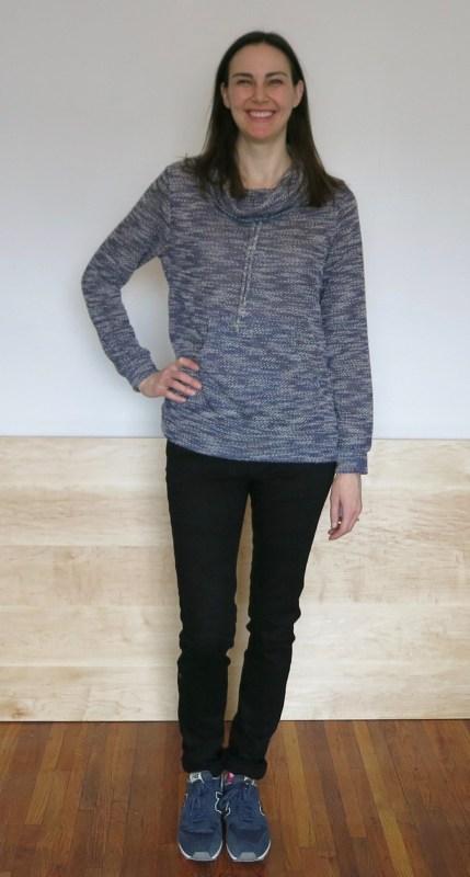 Loveappella Evie Draw String Funnel Neck Sweatshirt | Stitch Fix