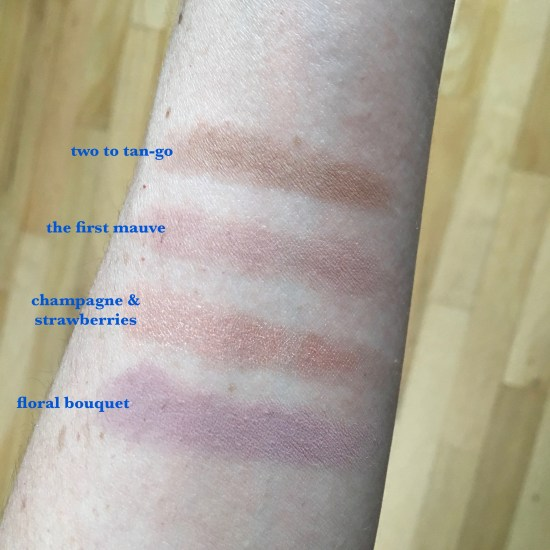 tarte cosmetics eye love you eyeshadow palette swatches