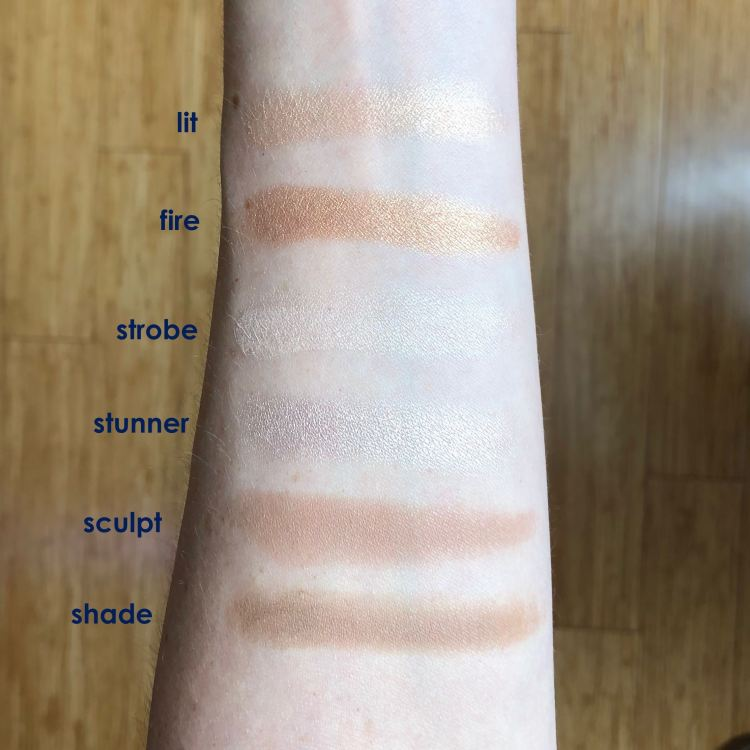 tarte tarteist PRO Glow highlight & contour palette swatches