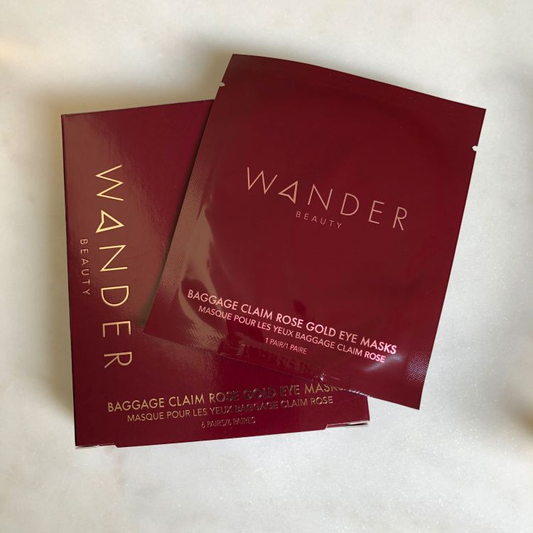 Wander Beauty Baggage Claim Rose Gold Eye Masks