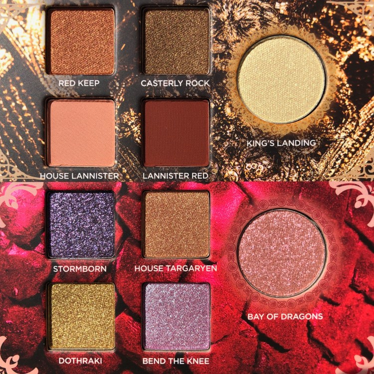 House Lannister and House Targaryen Eyeshadows | Urban Decay Game of Thrones