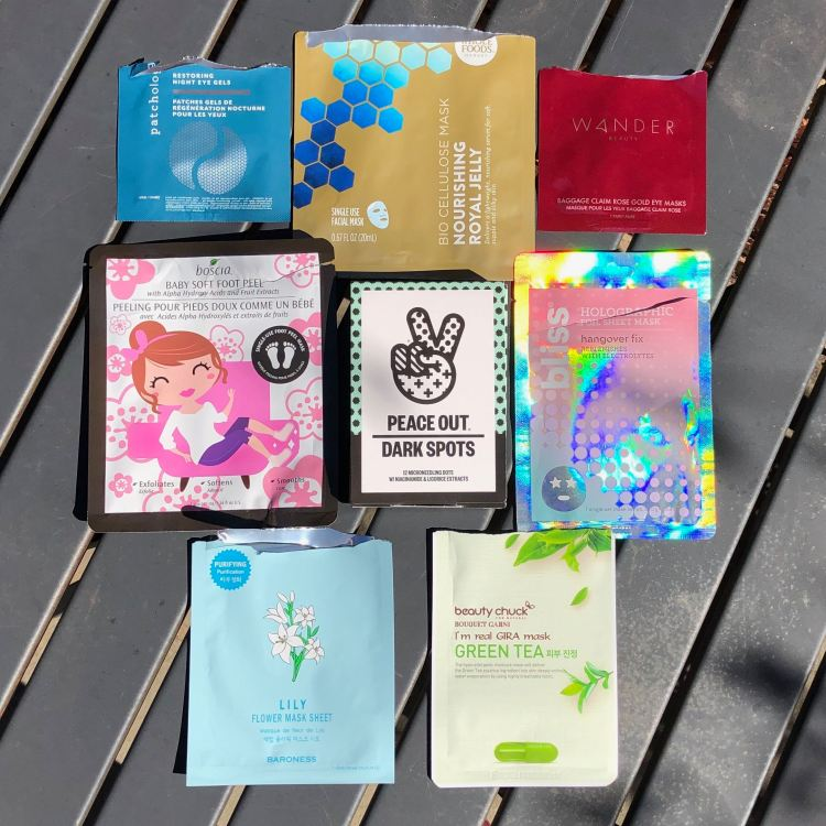 May 2019 Sheet Mask Empties