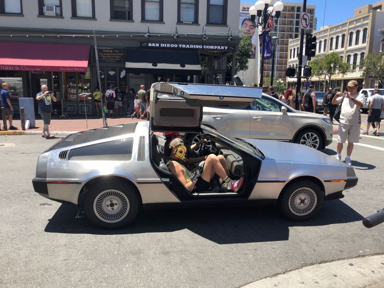 Delorean in San Diego