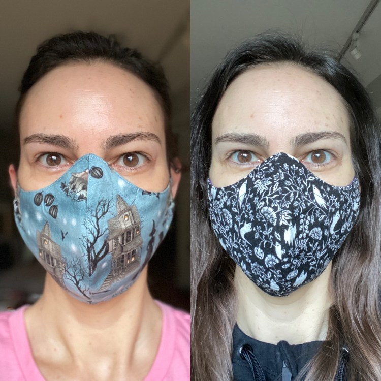 Spooky face masks