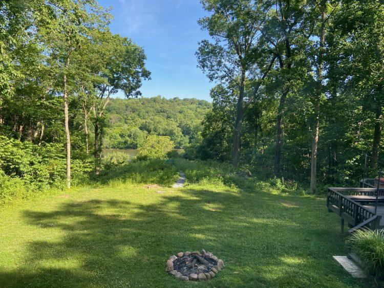 Airbnb yard & fire pit