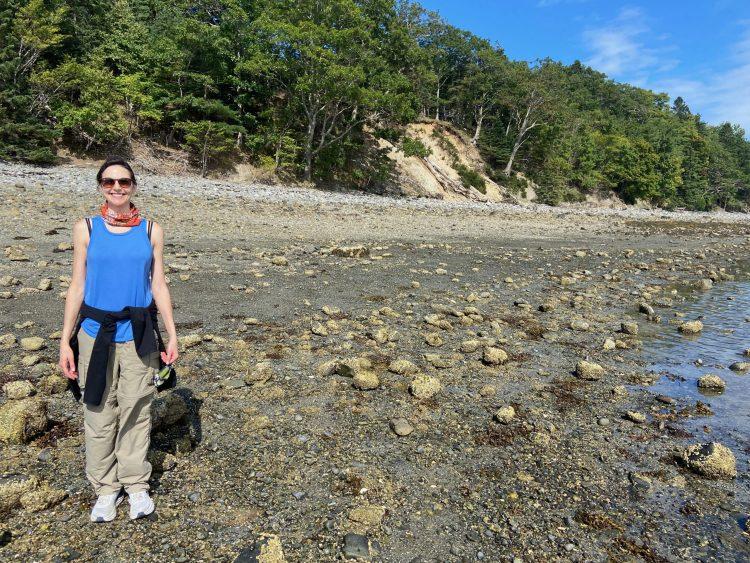 me on Bar Island beach