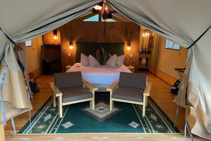 Bayberry tent interior