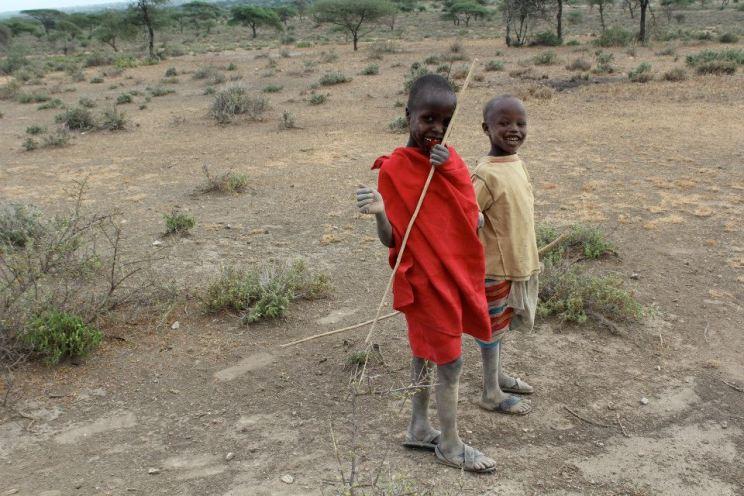Young Masai boys