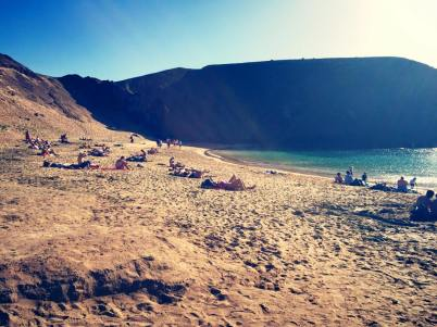 Beautiful beach in Lanzarote
