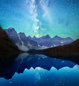 Moraine Lake Milky Way