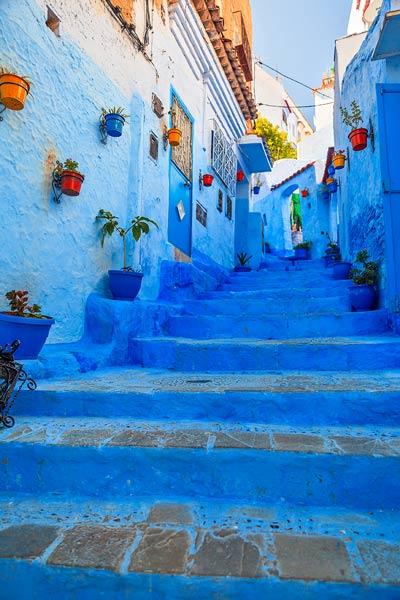 Chefchaouen Blue Hallway