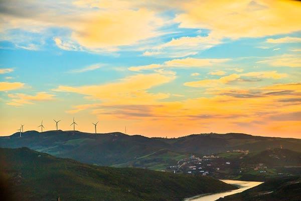 Morocco Windmill Sunset