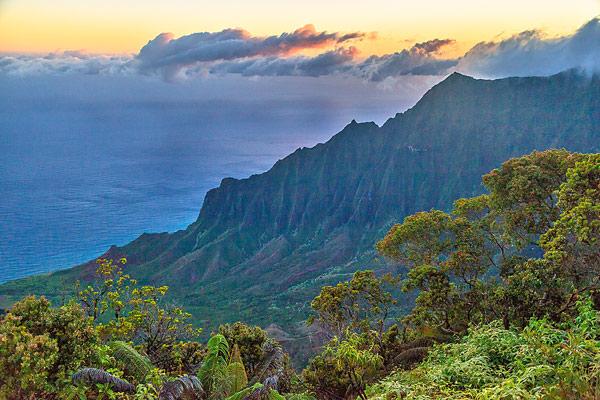 Kalalau Overlook Sunrise