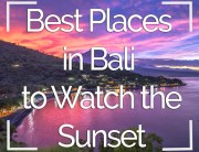 Best Places in Bali to Watch the Sunset