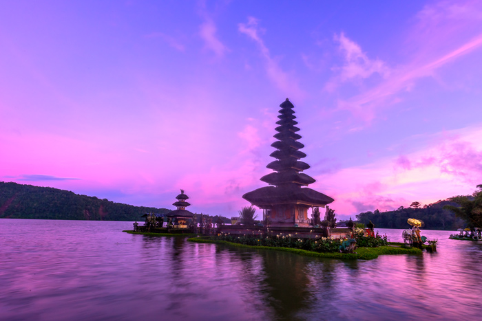 Floating Water Temple on Lake Bali