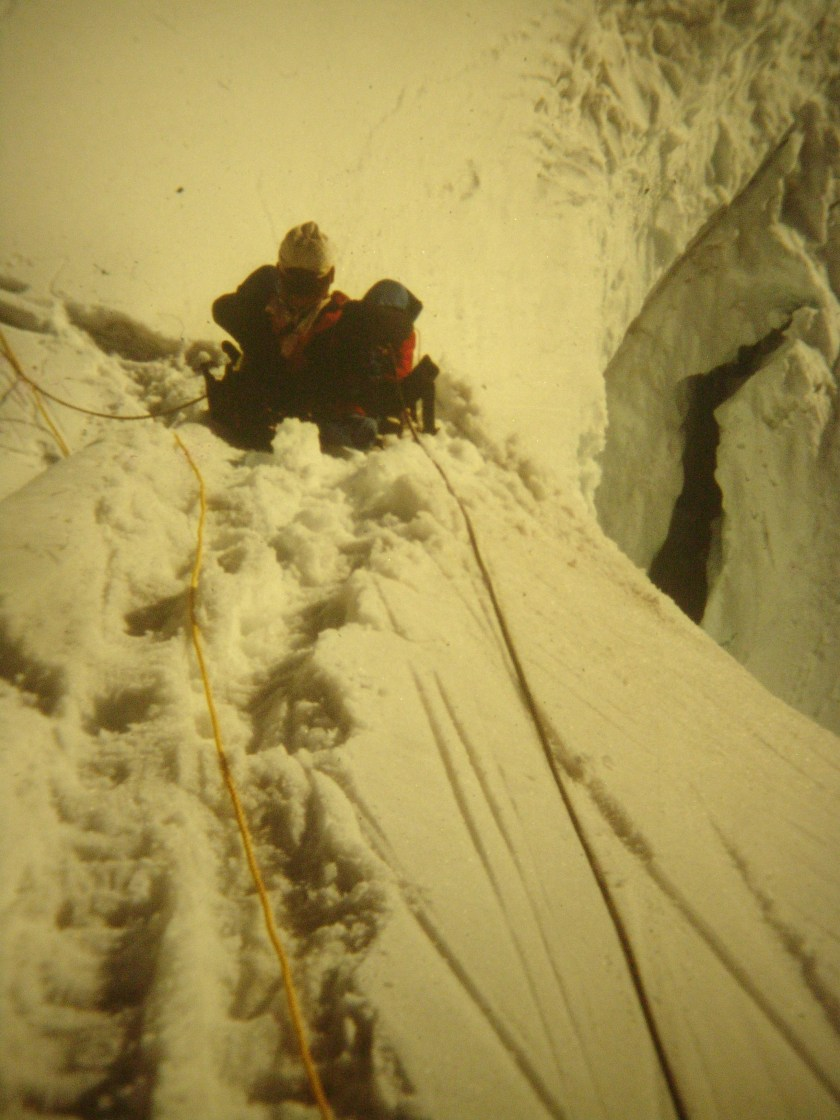 Building an anchor on Mt. Hunter