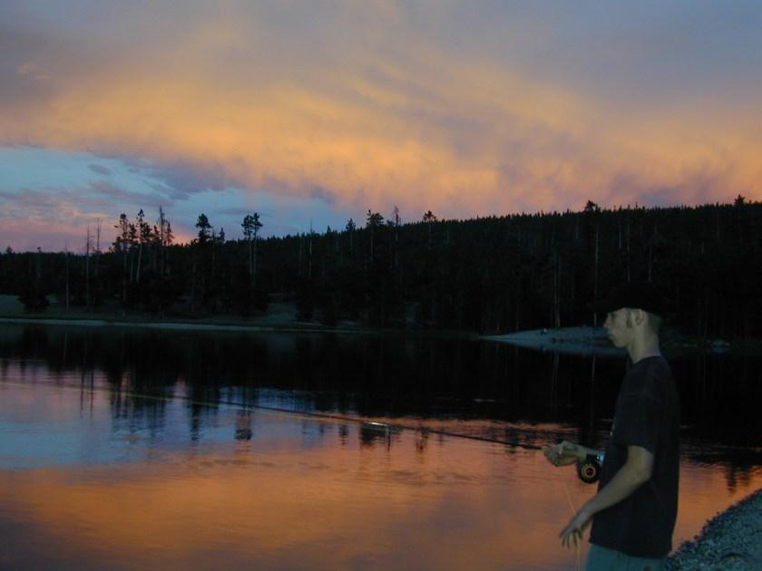Fly fishing a Wyoming alpine lake