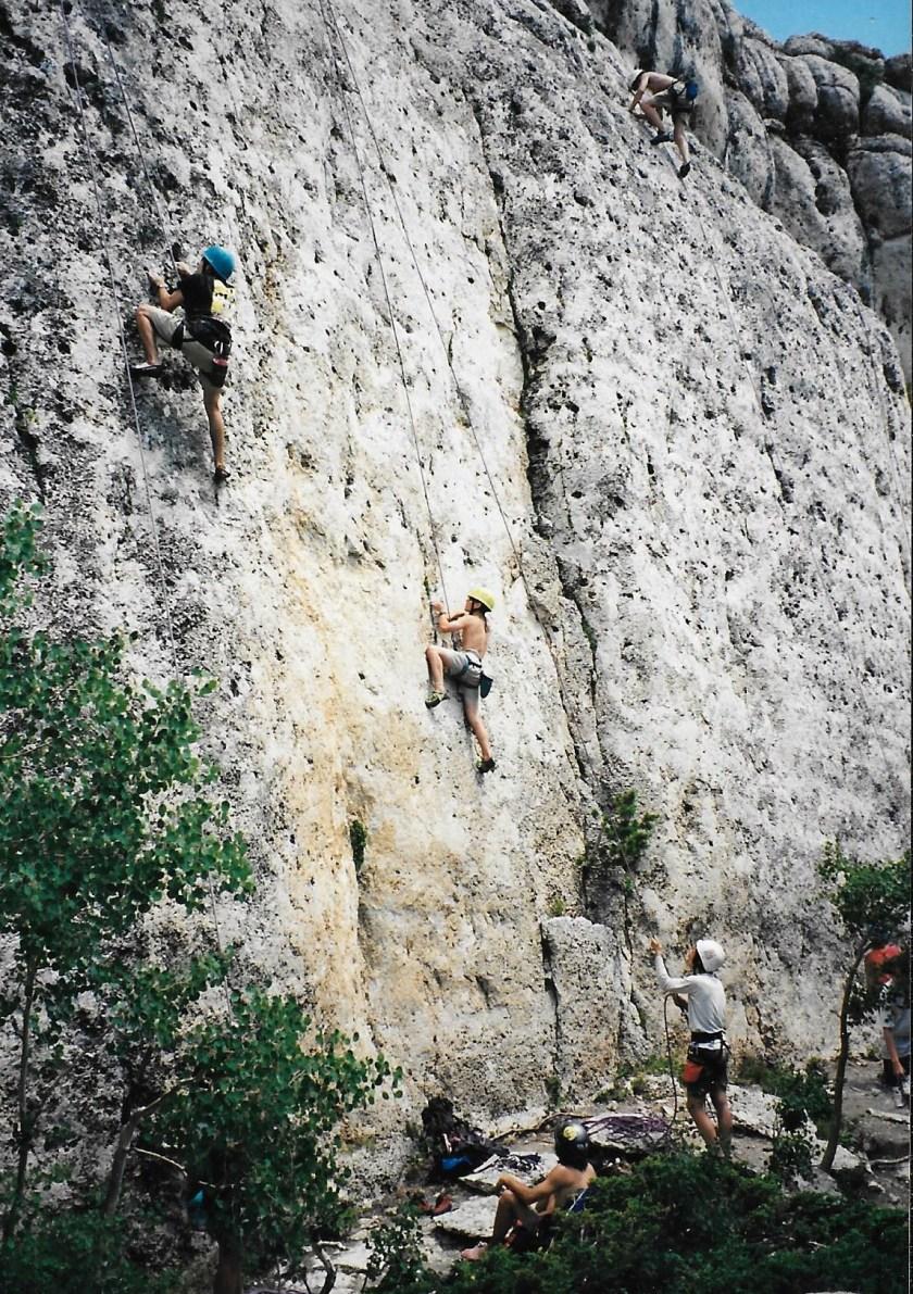 Group Sport Climbing