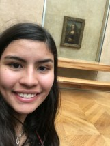 Speaking french pays off when you get into the Louvre for free, but also this selfie is not the best one because I had been walking around all day. Iconic moment: Brushing my hair at the Louvre