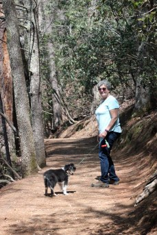 Kodi and Jackie on a hike.