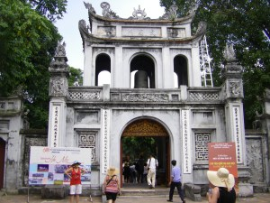 Gateway to Hanoi's delightful Temple of Literature