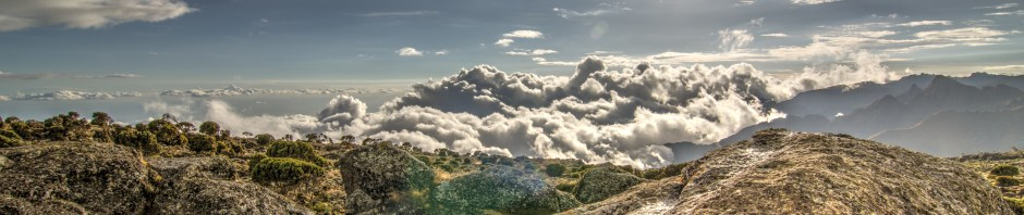 """""""Machame: It's an amazing feeling to walk among the clouds. I will never forget the thrill of experiencing views like this on the Machame route of Mt. Kilimanjaro. (Mt. Kilimanjaro, October 2012)"""""""