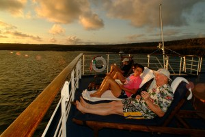 Sun Deck on the Legend Galapagos cruise
