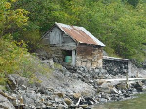 Evocative boathouses hearken to a long gone era, like this one at Skjerdal dock