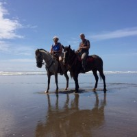 AWR Clients Riding Horses at Manual Antonio