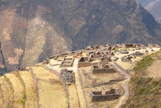 Incan ruins above Pisac Market