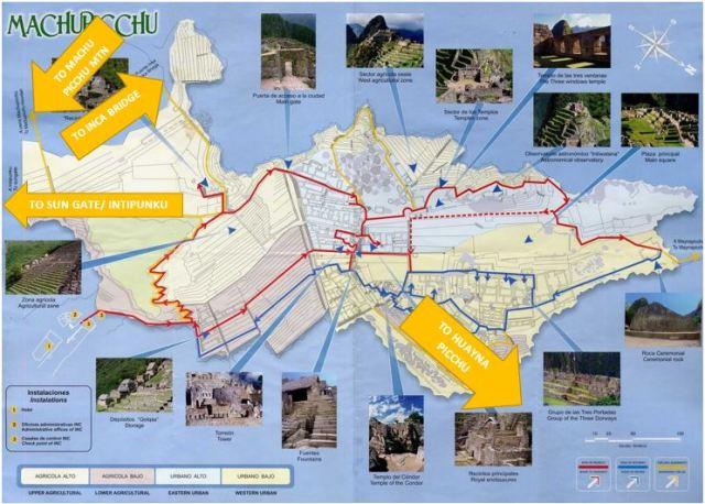 Machu Picchu Trail Head Map
