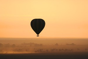 Tanzania hot air balloon safari