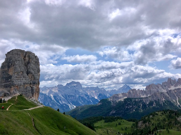 Amazing mountain scenery hiking in the Dolomites