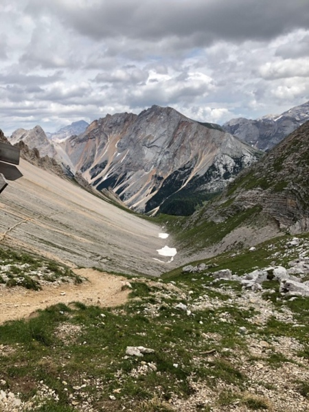 Mountain trekking Dolomites