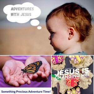 child thinking, butterfly, sensory play