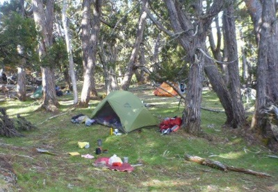 Our campsite up above the Dixons Kingdom Hut, not sure that many others would have found this spot.