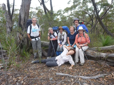 The group at our first break, all in good humour