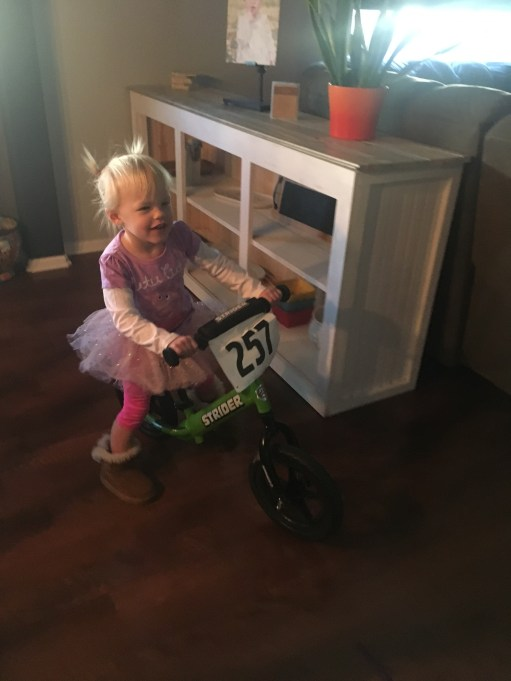 Doing a few hot laps before heading to dance class.