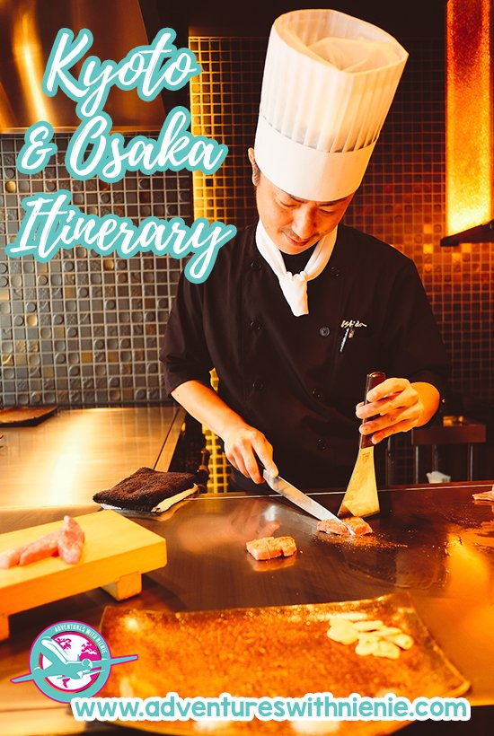 Kyoto Osaka Itinerary Pinterest Cover