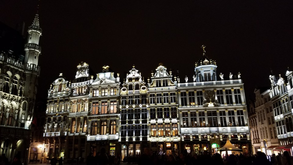 Grand Place in Brussels at Night | Adventures with Shelby