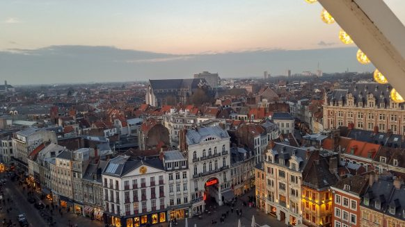 View from Grand Place Ferris Wheel in Lille | Adventures with Shelby