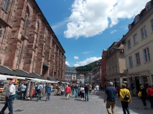 Marktplatz in Heidelberg, Germany | Adventures with Shelby