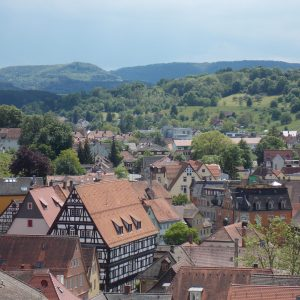 View from Johanneskirche in Schwaebisch Gmuend, Germany | Adventures with Shelby