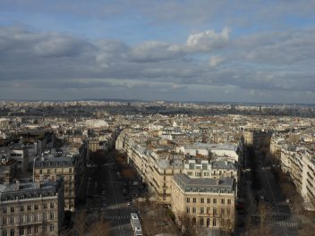 View from Arc de Triomphe in Paris | Adventures with Shelby
