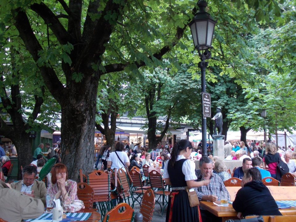 Beer Garden in Munich, Germany | Adventures with Shelby