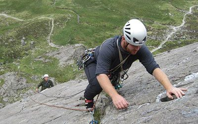 Learn to lead climb in Wales on a climbing course with Adventures With Will