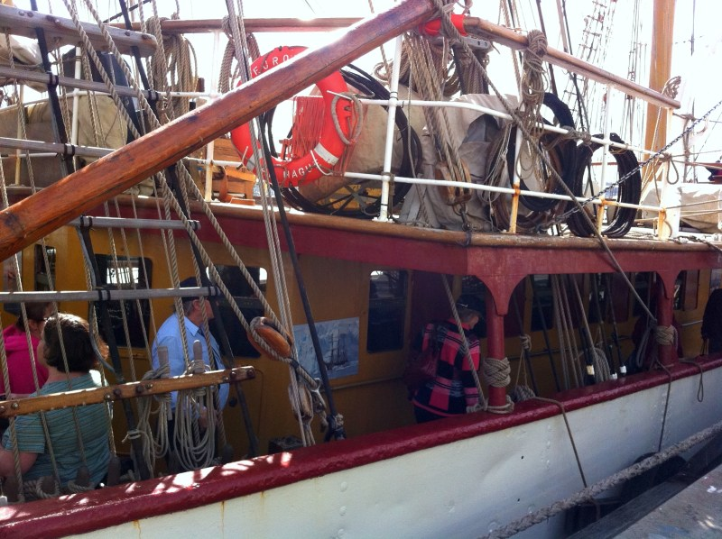 Traditional wooden boats can often be seen on Hobart's waterfront