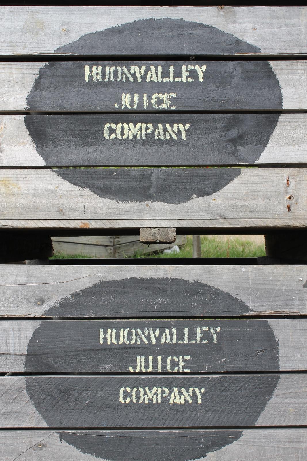 Apple crates in Tasmania's Huon Valley