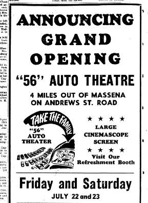 The Massena Observer, July 21, 1955, pg 16.