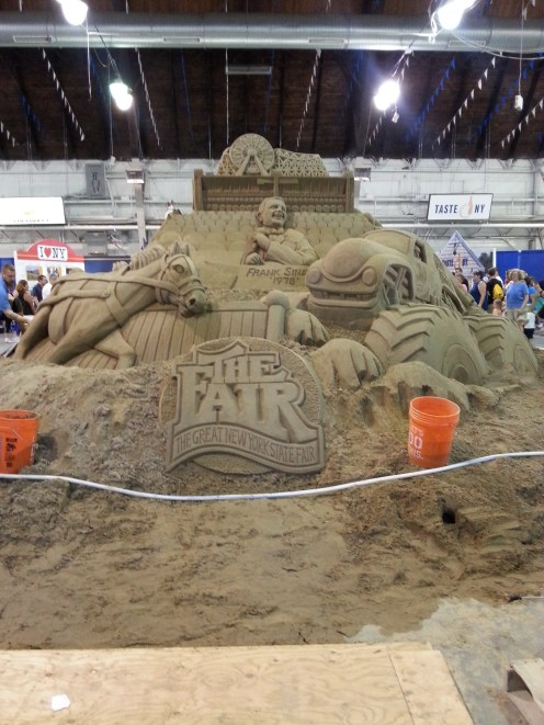The other side of the sand sculpture.